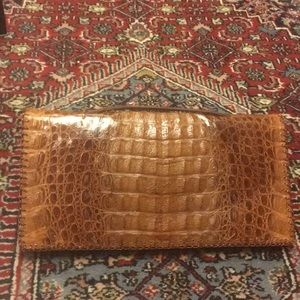 Vintage crocodile clutch in excellent condition
